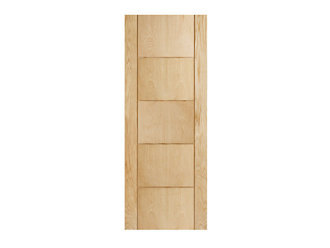 Wickes Thame Oak 5 Panel Internal Door - 1981mm X 762mm