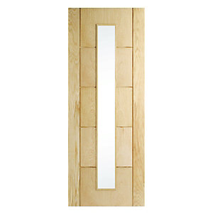 Wickes Thame Glazed Oak 5 Panel Internal Door - 1981mm x 762mm