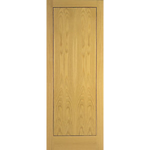 Wickes Gibson Internal Flushed 1 Panel Oak Door - 1981 x 762mm