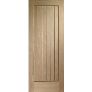 Wickes Geneva Oak Cottage 6 Panel External Door - 1981mm x 838mm