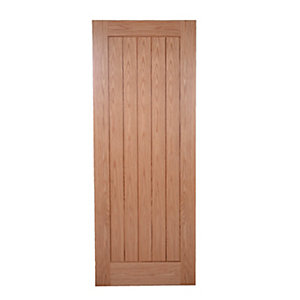 Wickes Geneva Internal Cottage Pre Finished 5 Panel Oak Veneer Door - 1981 x 686mm