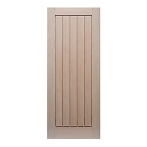 Wickes Geneva Internal 5 Panel Oak Veneer Cottage Fire Door - 1981 x 762mm