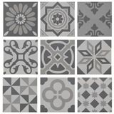 Wickes Winchester Patchwork Grey Ceramic Tile