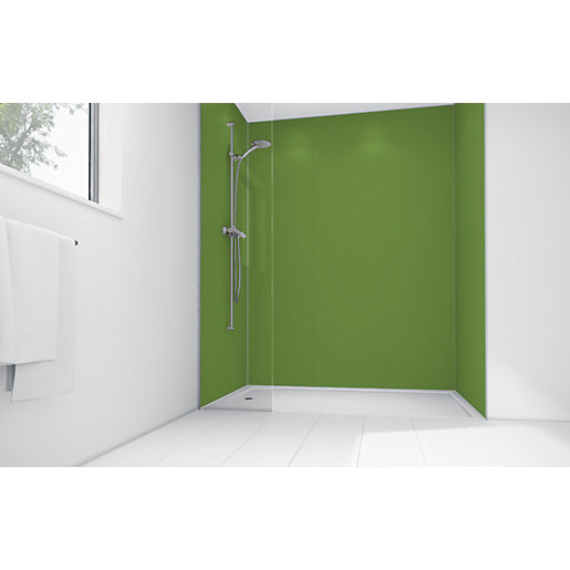 Mermaid Forest Green Matte Acrylic 2 Sided Shower