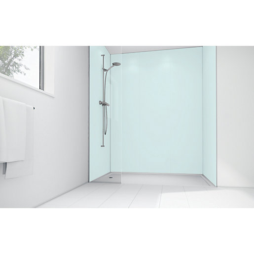 Mermaid Mint Matte Acrylic 3 Sided Shower Panel