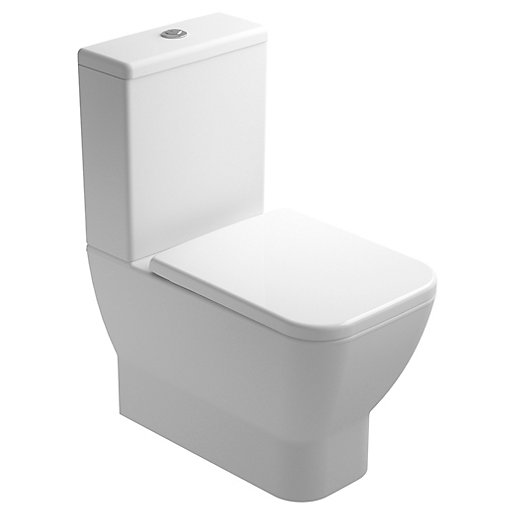 Wickes Emma Easy Clean Close Coupled Toilet Pan,