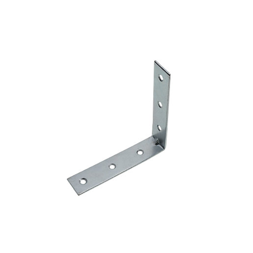 wickes 102mm zinc plated angle bracket pack 4 wickes co uk