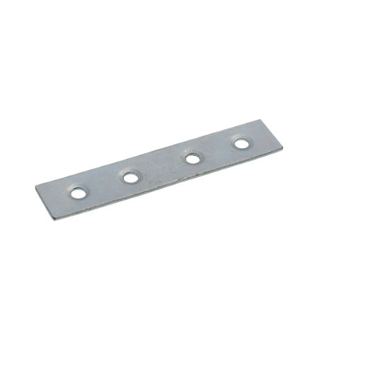 wickes zinc plated mending plate 76mm pack 4 co uk