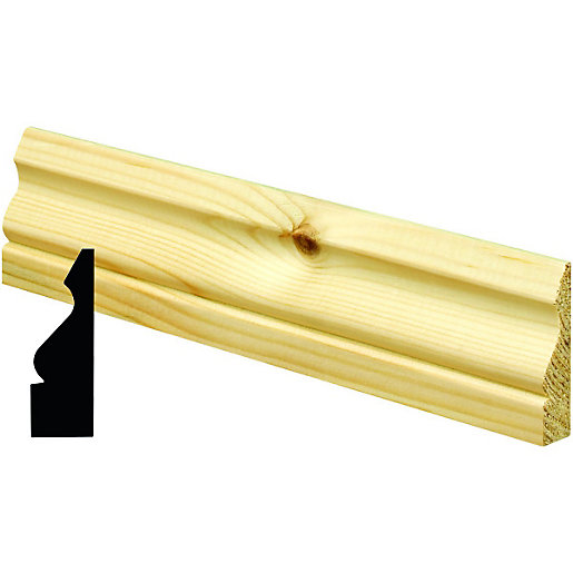 Wickes Ogee Pine Architrave - 19mm x 69mm