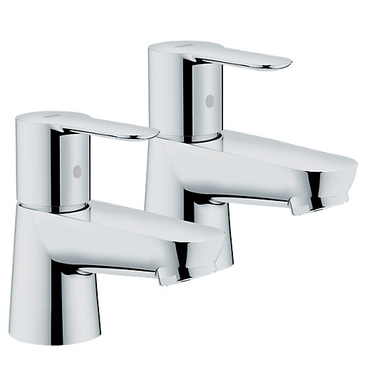 Grohe Get Basin Taps - Chrome | Wickes.co.uk