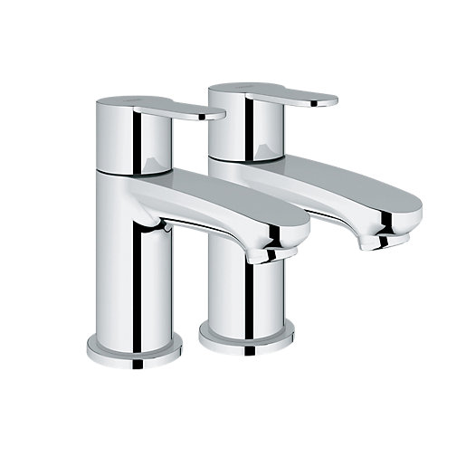 Grohe Wave Cosmo Basin Taps - Chrome | Wickes.co.uk
