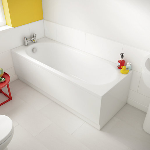 luxury reinforced front bath panel white 1700mm wickes. Black Bedroom Furniture Sets. Home Design Ideas