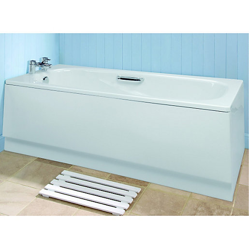 wickes bath front panel white 1690mm deal at wickes offer. Black Bedroom Furniture Sets. Home Design Ideas