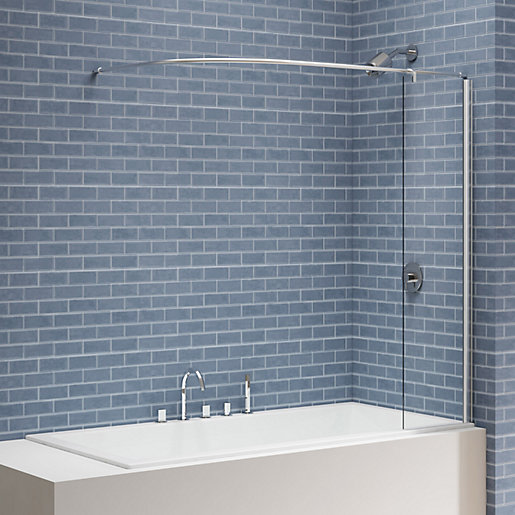 Nexa By Merlyn 6mm Square Bath Screen With
