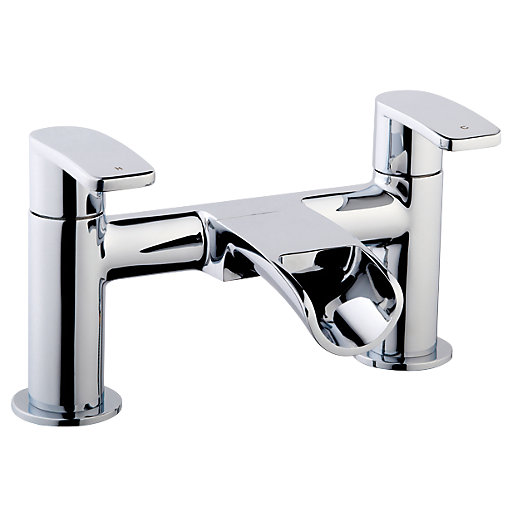 Wickes Niagra Bath Filler Taps - Chrome