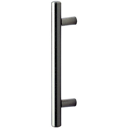 Wickes Satin Nickel Bar Handle for Bathrooms -