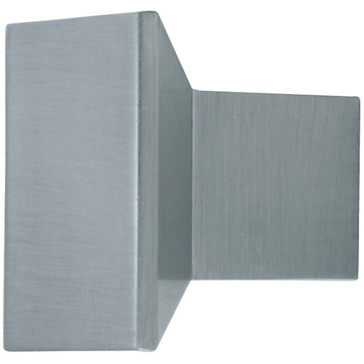 Wickes Stainless Steel Square Knob Handle for Bathrooms