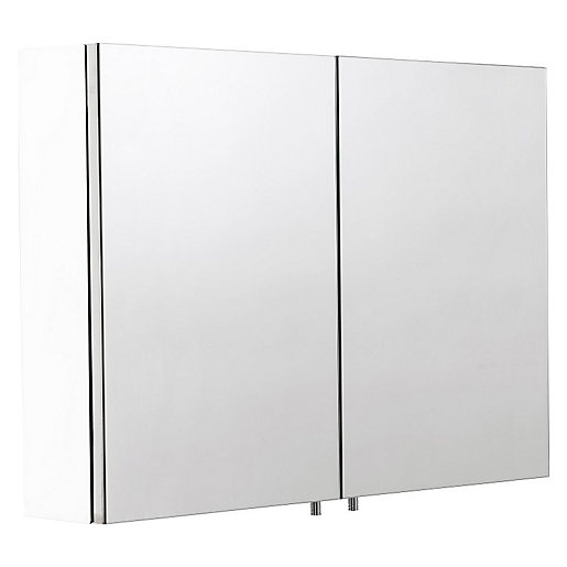 Croydex Folded White Steel Double Cabinet - H670