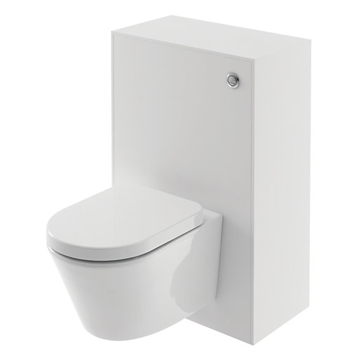 Wickes Eli White Matt Wall Hung Toilet Unit