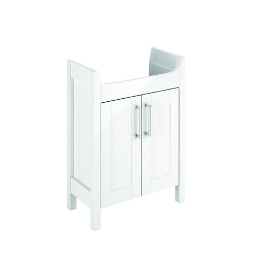 bathroom cabinets wickes wickes frontera white gloss freestanding vanity unit 600 11403