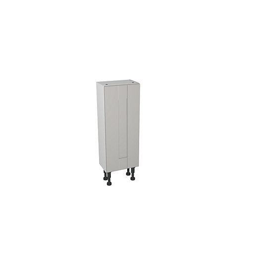 Wickes Vermont Grey On White Compact Floor Standing
