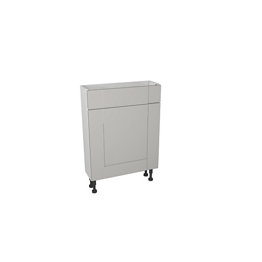 Wickes Vermont Grey On White Compact Toilet Unit