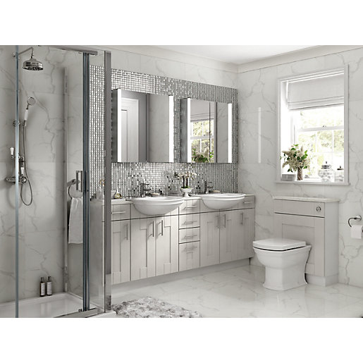 Wickes Vermont Grey On White Floor Standing or