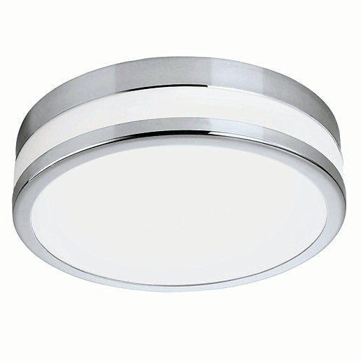 round bathroom light eglo palermo led chrome amp white glass bathroom 14253