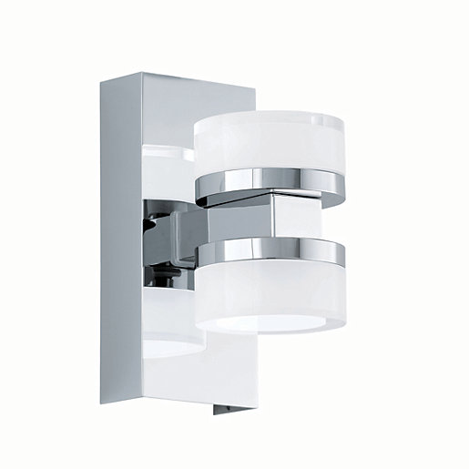Eglo Romendo LED Polished Chrome & White Bathroom Wall ...