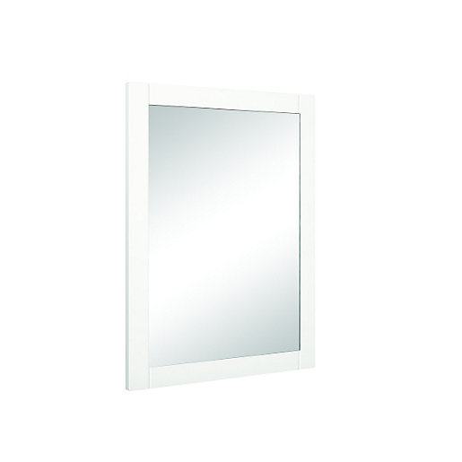 wickes frontera rectangular white framed bathroom mirror 21658