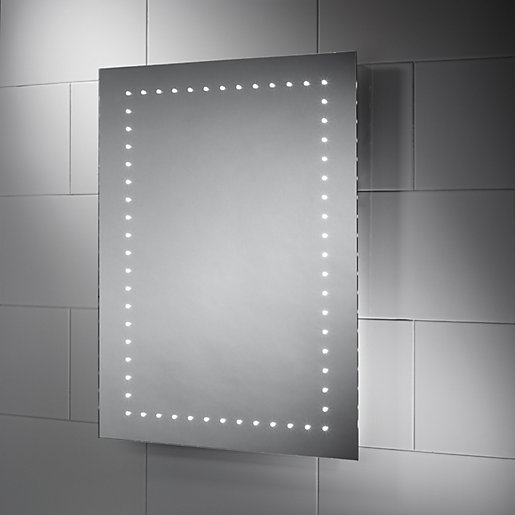 mirrors bathroom scene wickes dakota led bathroom mirror 600mm wickes co uk 13700
