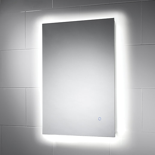 large illuminated bathroom mirror wickes meribel touch sensor backlit led mirror wickes co uk 19095