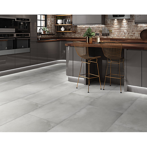 Boutique Memphis Grey Glazed Porcelain Floor Tile 1200