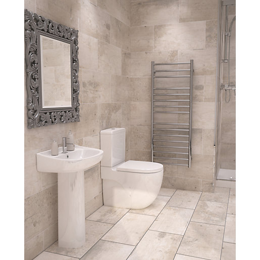 Ceramic Bathroom Tiles Handmade In Italy: Wickes Cabin Tawny Beige Ceramic Tile 600 X 300mm