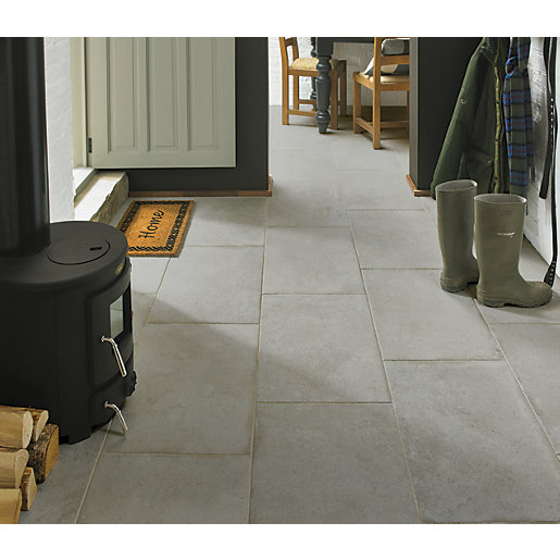 Wickes Como Travertine Porcelain Wall & Floor Tile