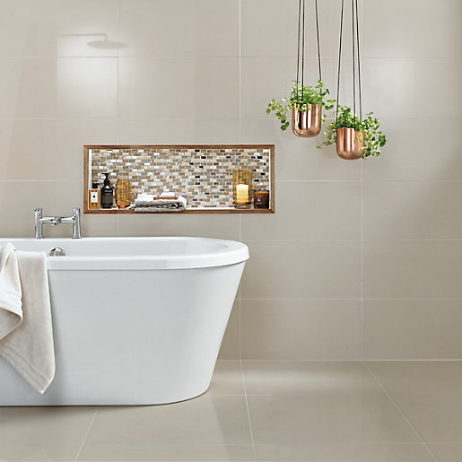 travis perkins bathroom tiles wickes infinity ivory porcelain tile 600 x 300mm deal at 21034
