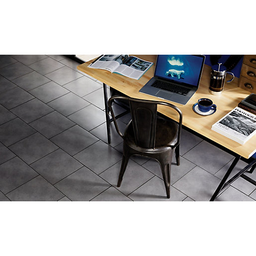 Wickes Urban Grey Ceramic Floor Tile 330 X 330mm Wickes