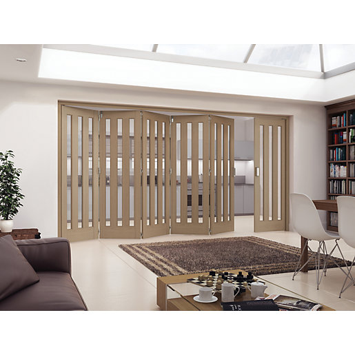 Jeld-Wen York Fully Glazed Oak 3 Lite Internal