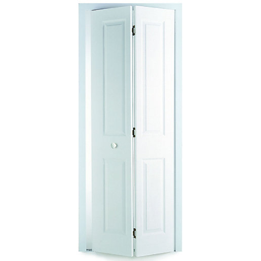 Wickes stirling internal white smooth moulded 4 panel bi for Moulded panel doors