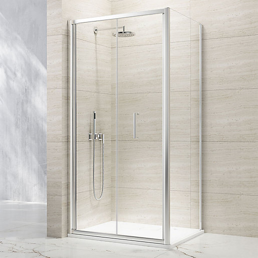 Nexa By Merlyn 8mm Bifold Chrome Framed Shower