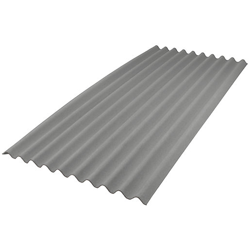 Onduline Intensive Grey Corrugated Bitumen Sheet 950mm X 2m Wickes Co Uk