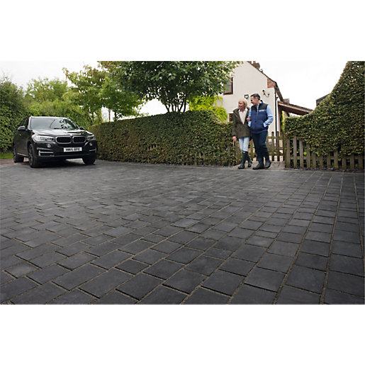 Marshalls Drivesys Riven Driveway Block Paving Pack Mixed