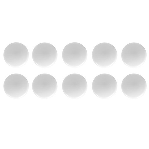 Wickes Door Knob - White Plastic 34mm Pack