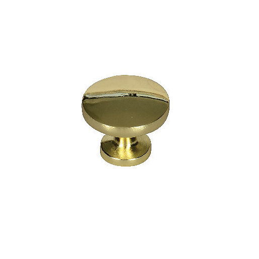 Wickes Victorian Door Knob Polished Brass 30mm Pack Of 6