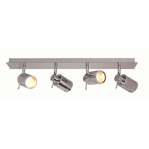 spa scorpius chrome bathroom bar light 140w 20603