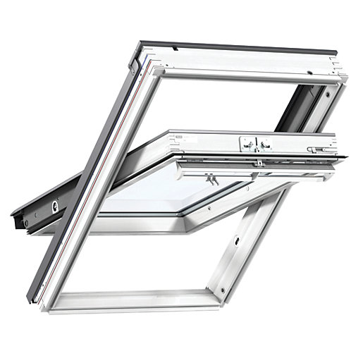 VELUX White Polyurethane Centre Pivot Roof Window GGU