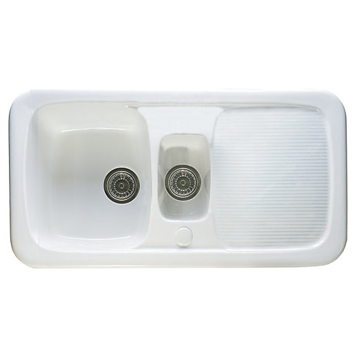 wickes kitchen sink wickes ceramic farmhouse 1 5 bowl sink white wickes co uk 1092