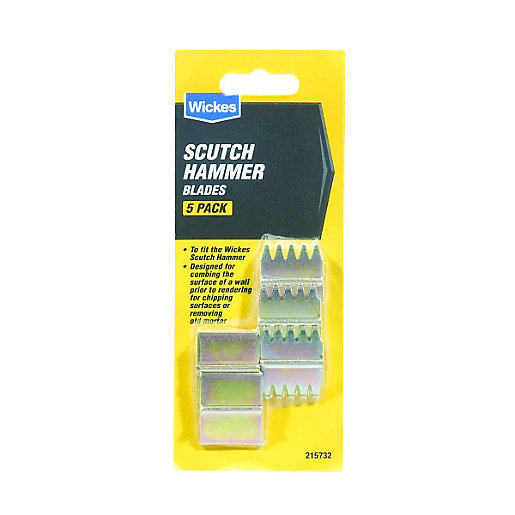 Wickes Blades for Scutch Hammer - Pack of