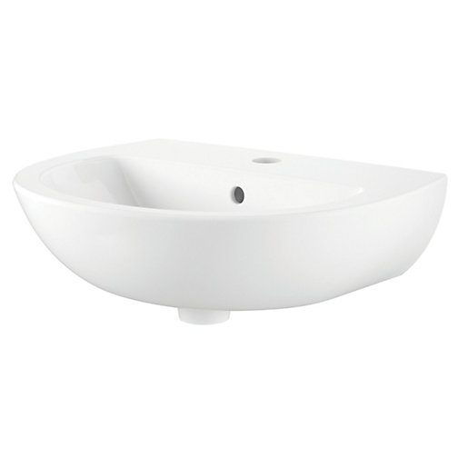 Wickes Newport Cloakroom Ceramic Basin - 450mm