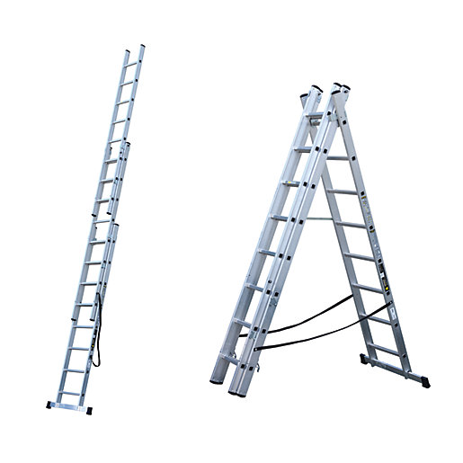 youngman trade aluminium 4 way combination ladder max height 5 58m